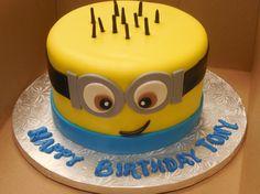 Calumet Bakery Minion fondant cake