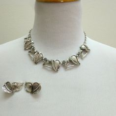 Ready for Spring 1950's Silver Leaf Necklace by LauraDarlingDeluxe, $24.00
