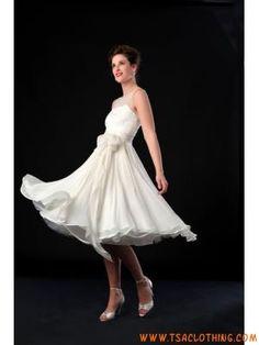 75563e896f58bb knie knie lengte een schouder Trouwjurken stijl Sophie Kamp Bruiloft
