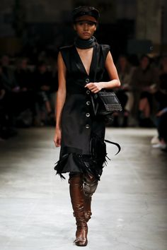 Prada Fall 2017 Ready-To-Wear: Look 5. Model: Lineisy Montero