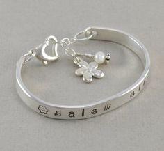 Little Girls Cuff Bangle Bracelet hand by SixSistersBeadworks, $64.00