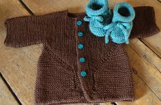 like solid color + bright buttons - baby surprise jacket