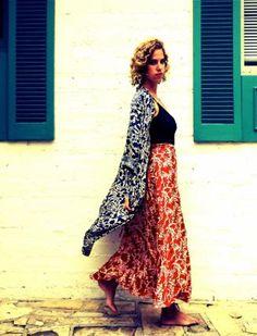 NM KIMONO & WRAP SKIRT Natalie Martin, Dress Collection, Kimono, Bohemian, Skirts, How To Wear, Clothes, Shopping, Dresses