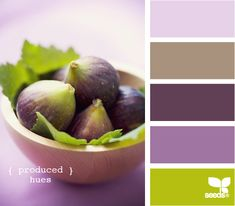 wedding color combo: lavender, purple and green