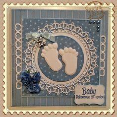 Lunasdatters Scrapbooking: Baby kort