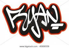 This was for my cousin named ryan,it took me ages to graffiti his name