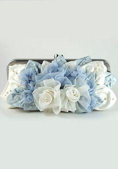 'Something Blue' Floral Bridal Purse