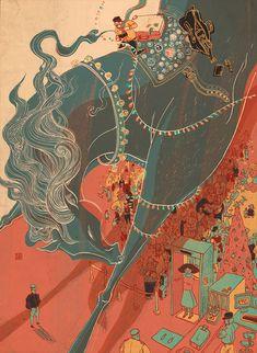 Смешение миров в иллюстрациях Victo Ngai