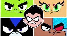 Le facce dei Teen Titans. Come se aprendo cartoon network in qualsiasi momento non te le ritrovassi davanti.