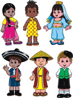 Cristãos kids: Imagens para o momento missionário Kids Around The World, Countries Of The World, People Around The World, Drawing For Kids, Art For Kids, Crafts For Kids, Cultural Diversity, Thinking Day, Bible Crafts