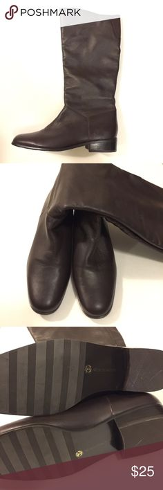 ✨20% Off 2+✨Mid-Calf Brown Leather Boots | sz 6 BRAND NEW | NEVER WORN: Brown leather boots. Gorgeous. *Brand is Worthington. Sam Edelman Shoes Combat & Moto Boots