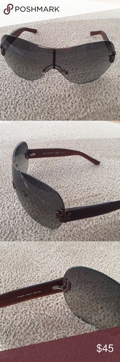 Tory Burch sunglasses Gray glass with brown frame Tory Burch Accessories Sunglasses