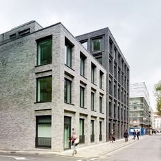 Photograph by Christopher Rudquist Corner House by DSDHA residential mixed-use brick architecture London, UK