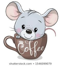Find Cute Cartoon Mouse Sitting Cup Coffee stock images in HD and millions of other royalty-free stock photos, illustrations and vectors in the Shutterstock collection. Thousands of new, high-quality pictures added every day. Cartoon Cartoon, Cartoon Drawings, Animal Drawings, Easy Drawings, Cartoon Illustrations, Cartoon Characters, Cute Images, Cute Pictures, Cute Cartoon Pictures