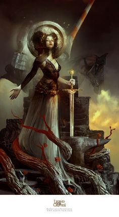 Artist: Bastien Lecouffe Deharme aka Bastien - Title: Queen of Misfortune - Card: Novalie, Cursing Fortune