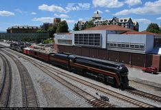 Norfolk and Western class J number 611 departed its display location of 20 years today at 2pm. The special train shoved east from the VMT co...