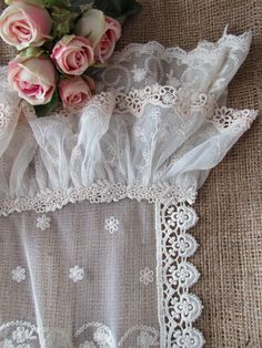 Lovely roses and lace.