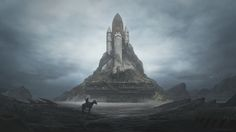 Post-apocalyptical space shuttle and other great art by Yuri Shwedoff