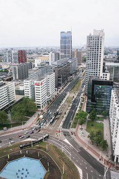 Hofplein view at Hofpoort Rotterdam Hofpoort Rotterdam Holland Dutch Netherlands…