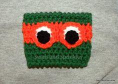 Swirls and Sprinkles: Free TMNT cup Kozie crochet pattern