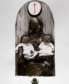 .BLACK CHURCH. #void#666#dark#darkart#death#fear  #terror#rotten#sick#decay#parasite  #nightmare#evil#hell#demons#black  #kvlt#occult#ritual#brutal#occvlt_art  #occultarcana#korpusinteriora #blackmetalart#armyofarts #onlythedarkest#lifeformdrawingclub #artforthesick#popeofhell_art #daviderankore