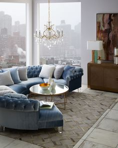 Shop Varianne Curved Sectional Sofa from Haute House at Horchow, where you'll find new lower shipping on hundreds of home furnishings and gifts. Living Room Color Schemes, Living Room Colors, Living Room Sofa, Home Living Room, Living Room Designs, Living Room Furniture, Home Furniture, Living Room Decor, Antique Furniture