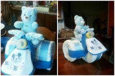 #baby #ideeregalo #faidate #handmade #tortedipannolini #triciclodipannolini #azzurro #bebè #neonato