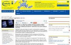 EurActiv es un portal de noticias sobre la actualidad de la Union Europea en España. Contiene secciones específicas sobre medio ambiente, ciencia, investigación y cambio climático.
