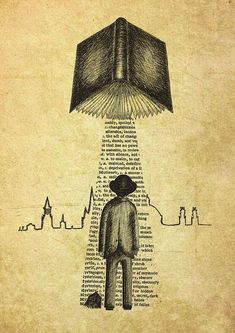 Take Me To Your Reader- art print by Jon Turner- surreal literary pen and ink artwork I Love Books, Books To Read, My Books, Photo Facebook, Illustration, World Of Books, Book Nooks, Bibliophile, Book Lovers