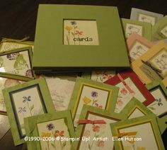 front of the card organizer made from 8X8 post album