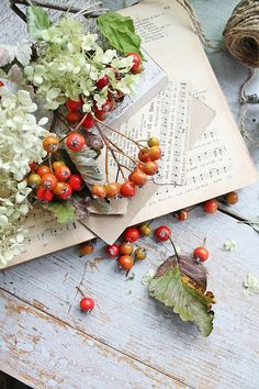 Autumn Berries with Vintage Charm ~ Mary Walds Place - VIBEKE DESIGN: Autumn leaves