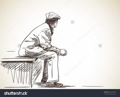 https://image.shutterstock.com/z/stock-vector-sketch-of-old-man-sitting-hand-drawn-illustration-428108503.jpg