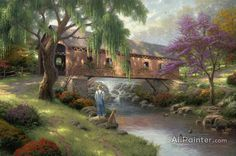 Thomas Kinkade The Old Fishin Hole oil painting reproductions for sale