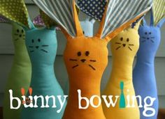 How-Tuesday: Bunny Bowling with thelongthread on Etsy