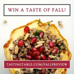 Win a fall preview! Get the look, taste and feel of the hottest new trends: VIP FabFitFun seasonal box for 1 year, $500 credit to dine out at highly anticipated restaurant openings and a Cosmo-curated fashion guide. Celebrate the season. Enter now: tastingtable.com/fallpreview2014