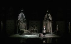 Scenic design by Edward Gory. Lighting by David Lander. Stage Set Design, Set Design Theatre, Bühnen Design, Design Elements, Design Ideas, Dracula Castle, Edward Gorey, Theatre Costumes, Creatures Of The Night
