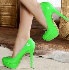 neon high heels these would be sooooo cute in pink too