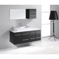 Virtu USA Ceanna Single Basin Vanity in Espresso with Stone Vanity Top in White and Mirror provides a modern and new look to your bathroom. Modern Vanity, Modern Bathroom, Small Bathroom, Bathroom Ideas, Brushed Nickel Faucet, Glass Countertops, Single Sink Bathroom Vanity, Single Vanities, Vanity Set With Mirror