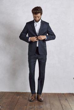 Veste costume homme ajustée laine et cachemire - marine 109206e4dcf
