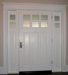 White Interior Front Door arts & crafts door | front doors, doors and house