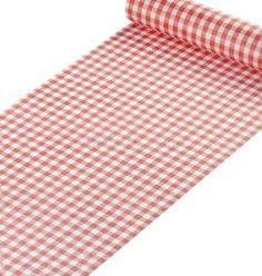 Chemin de Table élégance Vichy rouge 5m