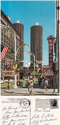 Marina City. Postcard Chicago 1967  http://witp.tumblr.com/page/6