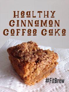 Healthy Cinnamon Coffee Cake.  Gluten-free, dairy-free.