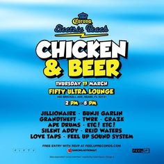 It's that time again.  Join us this Thursday for the best of the best in Miami.  RSVP at link.  @jillionaire @bunjigarlin @grandtheft @wearetwrk @crazearoni @apedrums @iametc @silentaddy @reidwaters @lovetapsmusic  #feeluprecords  #chickenandbeer  #electricbeach