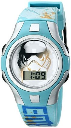 Star Wars Kids SWRKD002 Star Wars Digital Watch With Blue Plastic Band @ niftywarehouse.com #NiftyWarehouse #Geek #Products #StarWars #Movies #Film
