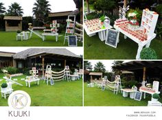 Mesa de dulces | candy bar | primera comunión | postres | dulces | salado | fiesta | jardín | naranja | www.beKUUKI.com