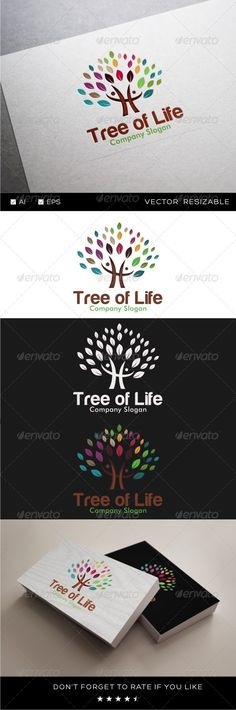 Tree Of Life - Logo Design Template Vector #logotype Download it here: http://graphicriver.net/item/tree-of-life-logo/8486430?s_rank=525?ref=nexion