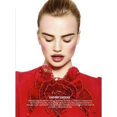 Milou Sluis is Red Hot in Cosmopolitan's February Issue by Jamie... via Polyvore