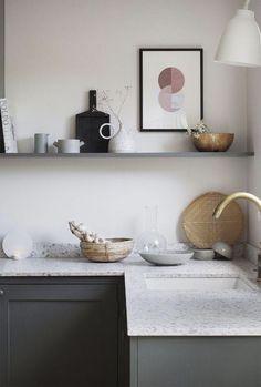 10 Beautiful Open Kitchen Shelving Ideas - Tanzania Home Ideas Interior Design Minimalist, Interior Design Kitchen, Minimalist Kitchen, Minimalist Decor, Minimalist Style, Minimalist Living, Minimalist Bedroom, Home Decor Kitchen, Home Kitchens