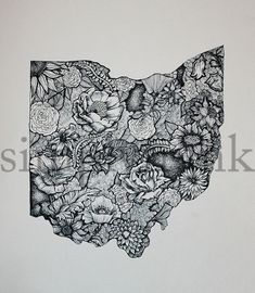 Black and White Ohio by simplyfrank on Etsy